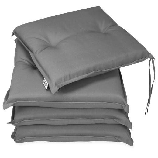 Seat Cushion Sydney 4Pcs Grey 41x37x5cm
