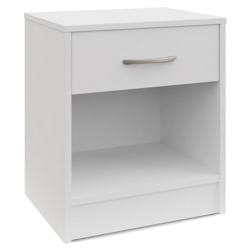 Nightstand with Drawer White