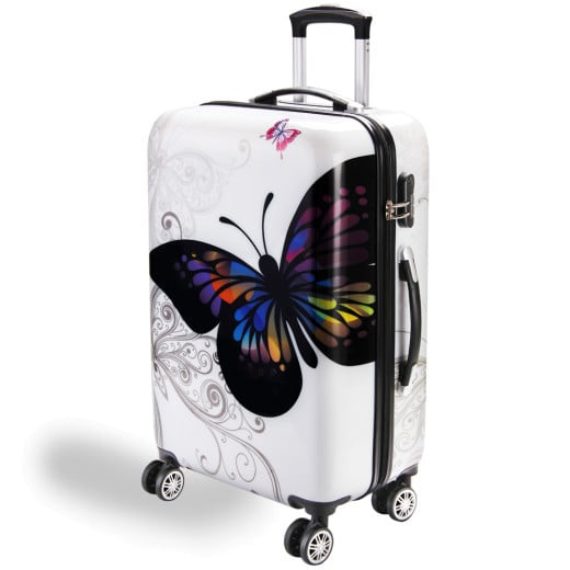 Hard Shell Suitcase Butterfly L