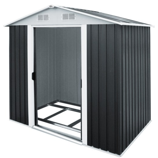 Garden Shed Anthracite Metal 6.9x4.3x6.1ft