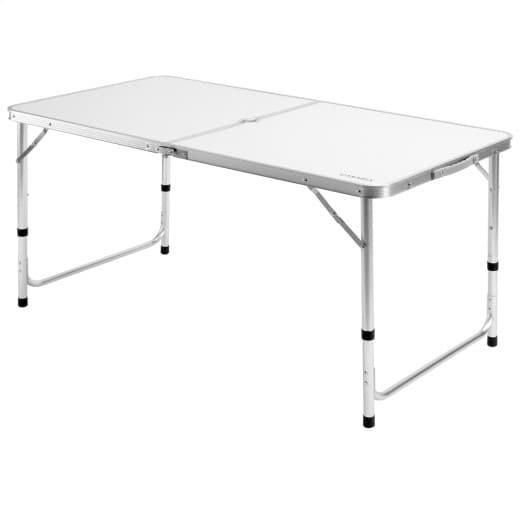 Foldable Camping Table in White made of Aluminium