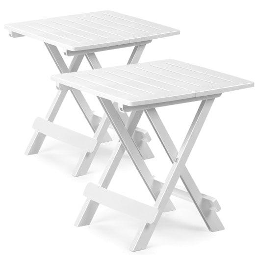 Bestelltisch 2er-Set Weiß Kunststoff 45x43x50 cm klappbar