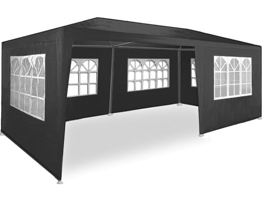 Gazebo Rimini Anthracite 6x3m incl. Side Panels