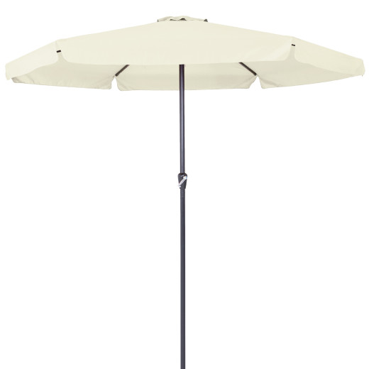 Garden Sun Parasol with Crank Handle 3.5m Beige UV-Protection-40