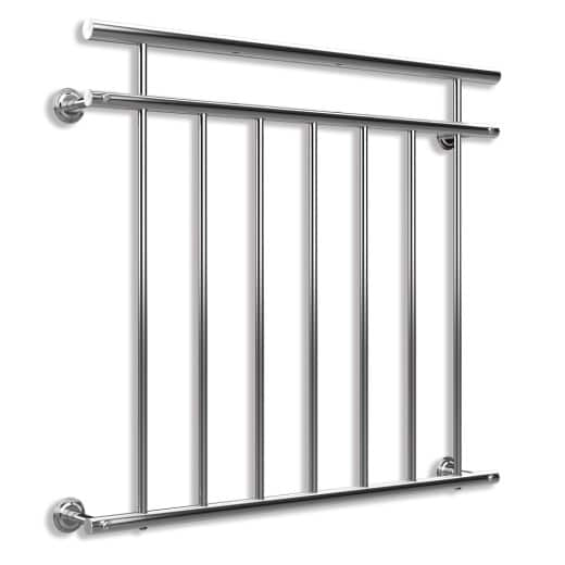 French Balcony Railing made of Stainless Steel 2.9x3.3ft