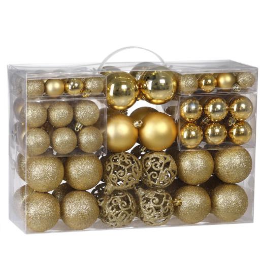 Christmas Baubles 100Pcs Gold