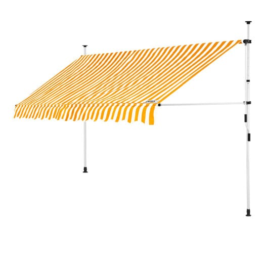 Clamp Awning Yellow/White 11.5ft
