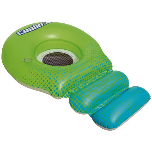 Inflatable Swimming Pool Chair Green Blue