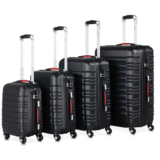 Hardshell Suitcase Black S,M,L,XL - Set of 4