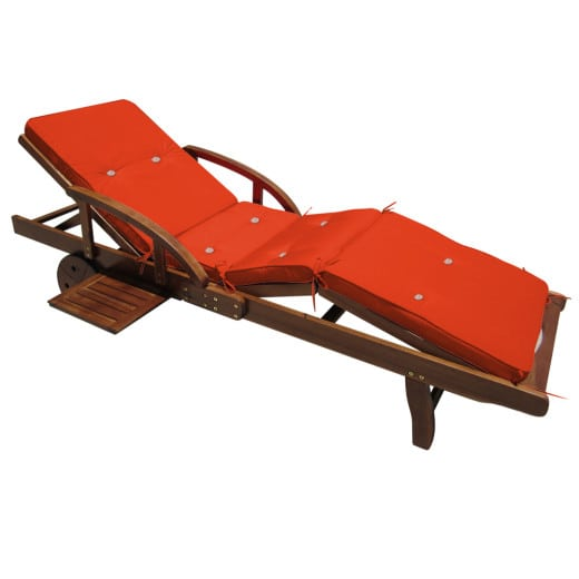 Sun Lounger Cushion Tami Sun Orange 195x55x5cm