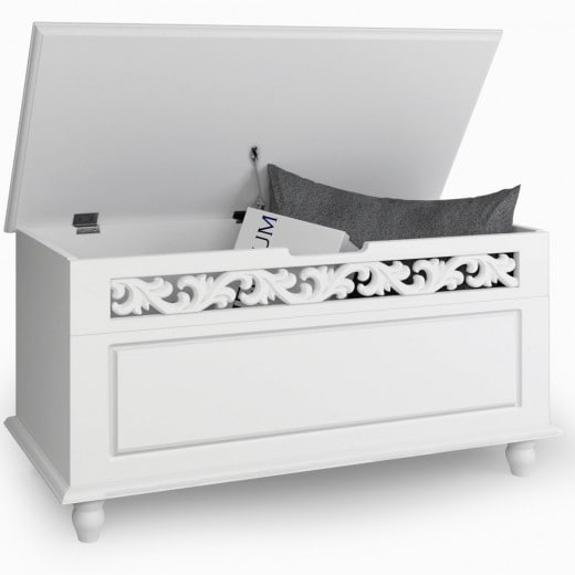 Trunk Jersey White Wood 2.6x1.3x1.5ft