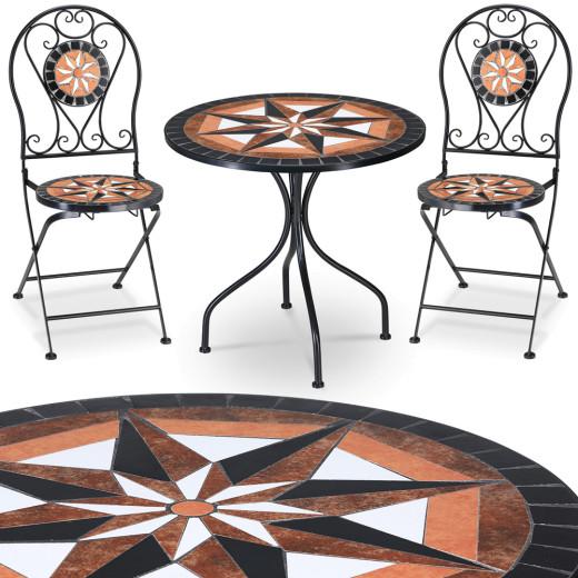 Pamplona Mosaiktisch und zwei Stühle
