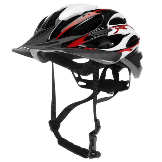 Multifunctional Sport Helmet Red with Removable Screen