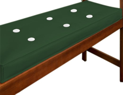 Cushion for 2Seater bench 110x45cm Green