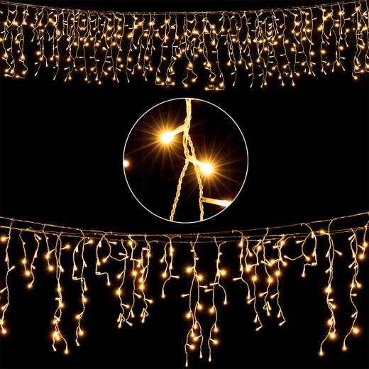 600 LED Regenlichterkette in Warmweiß 20m