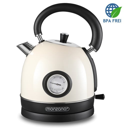 Electric Retro Kettle 1.8L Cream