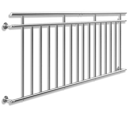 French Balcony Railing Stainless Steel 3x7.4ft