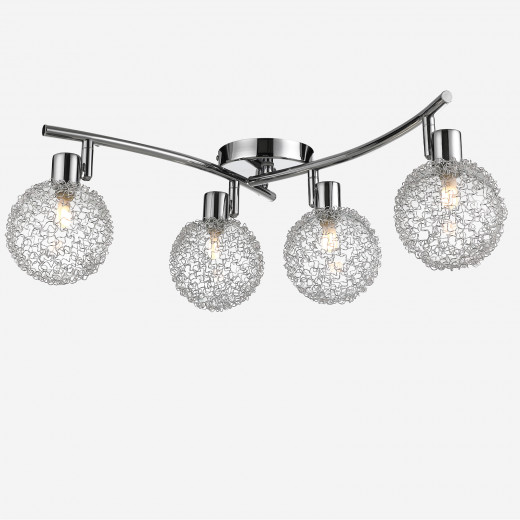 LED Ceiling Light Calla with 4 Flames