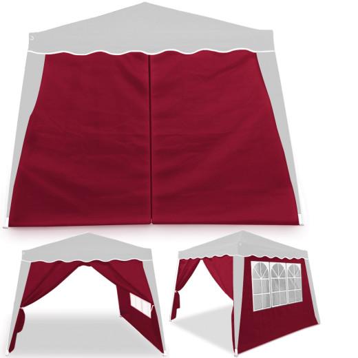 Set of 2 Side Panels in red for Gazebo Capri 3x3m