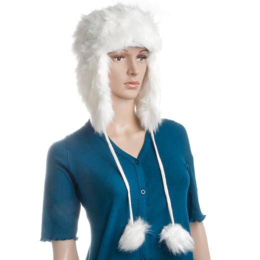 Fur Cap White