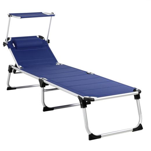 Sun Lounger Bari in Blue