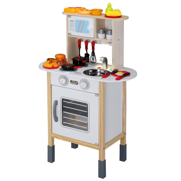 Play Kitchen Wood incl. Accessories 1.9x1x2.5ft