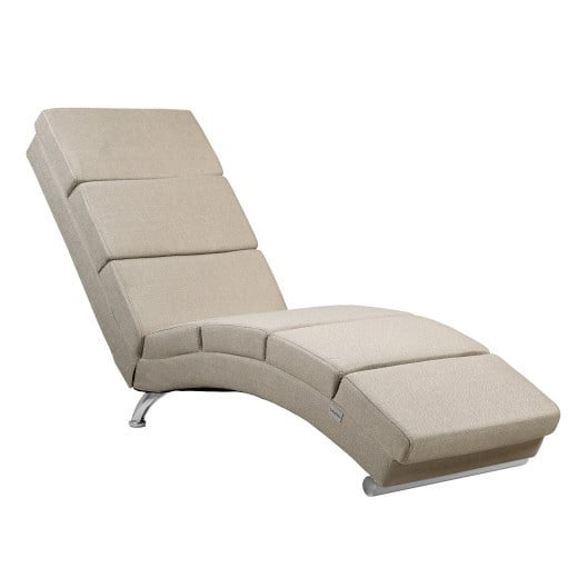 Chaise Lounge London with Cream fabric