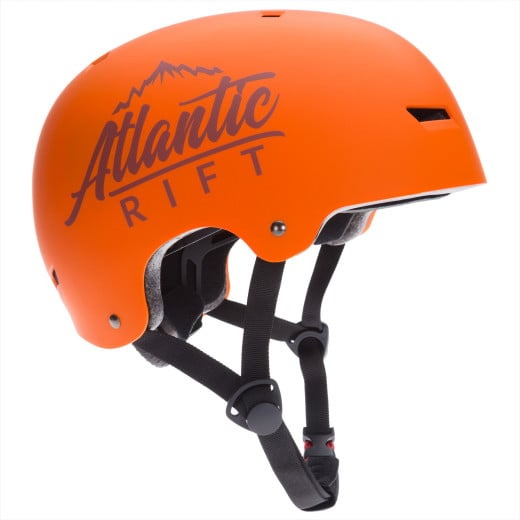 Atlantic Rift Adjustable Kids Bike Skateboard Helmet orange S