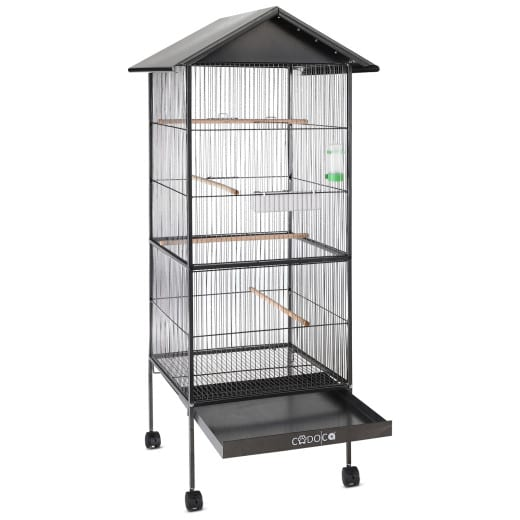 Bird Aviary Metal Canary Parrot Budgie Birds Cage House Pet Supplies
