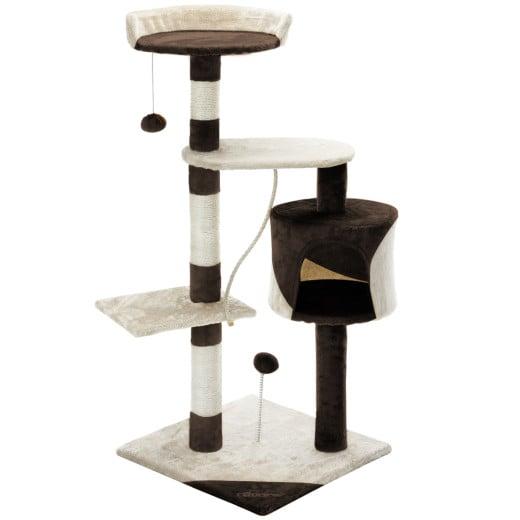 Cat Scratching Post Beige/Brown 3.7ft