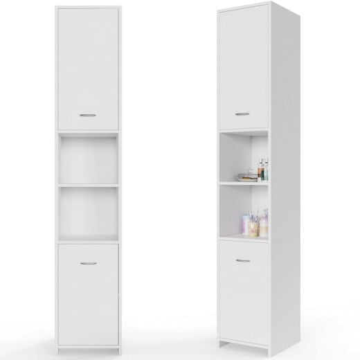 Tall Bathroom Cabinet in White 6x1x1ft