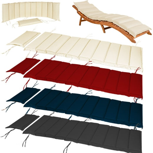 Sunlounger cushions 192,5 x 61 cm - Thick padded and strap loops