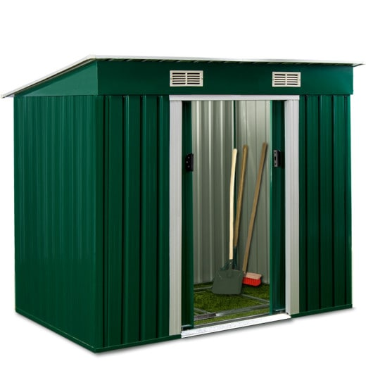 Garden Shed in Green made of Metal 6x4x6ft