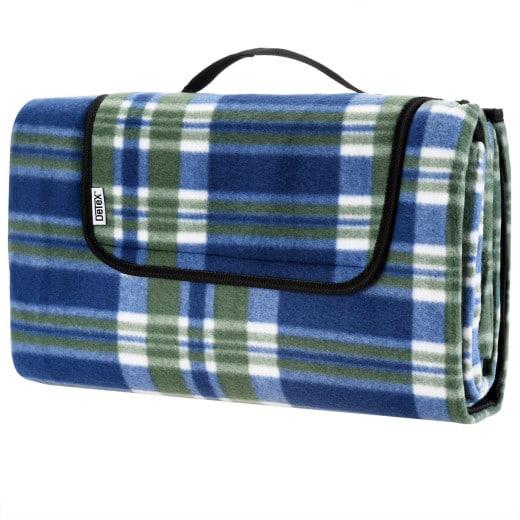 Picknickdecke Karo/Blau 2x2m