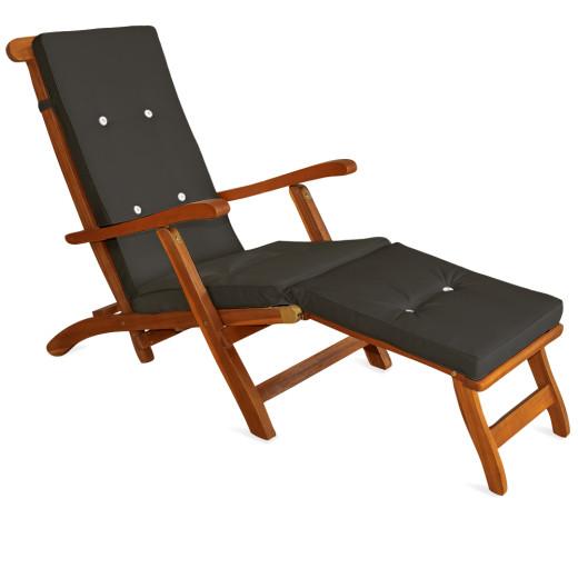 Sun Lounger Cushion Anthracite 173x43x6cm