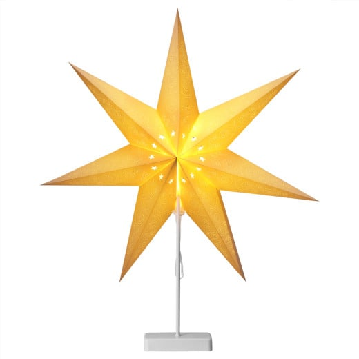 LED Paper Star Cream with Stand