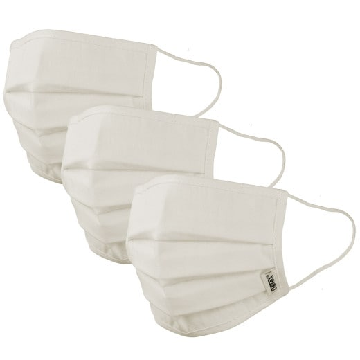 Face Covering Cream Cotton - Set of 3