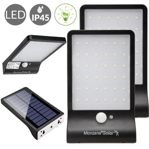 Solar Wandleuchte 2er-Set mit Bewegungsmelder 36 LEDs