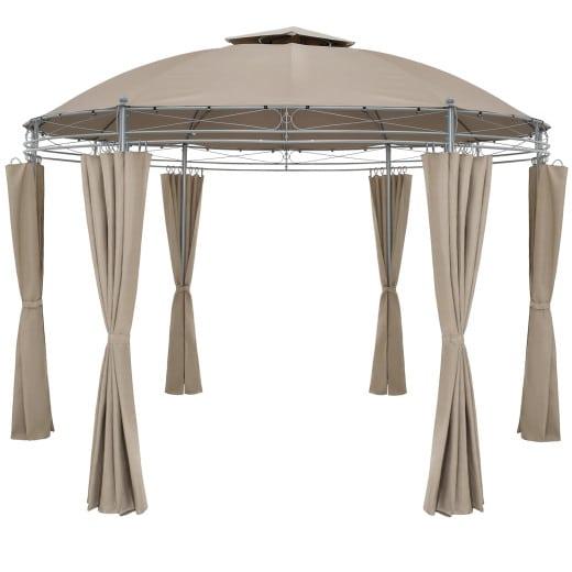 Pavillon Toscana Taupe Ø3,5m UV-Schutz 50+