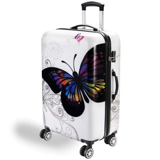 Hard Sheel Suitcase Butterfly 98L