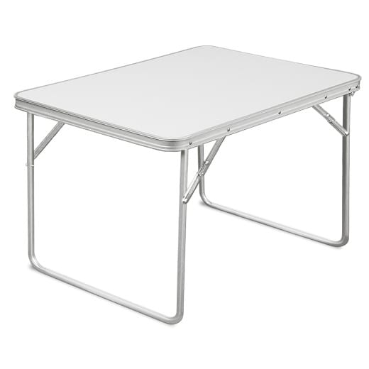 Foldable Camping Table made of Aluminium in White