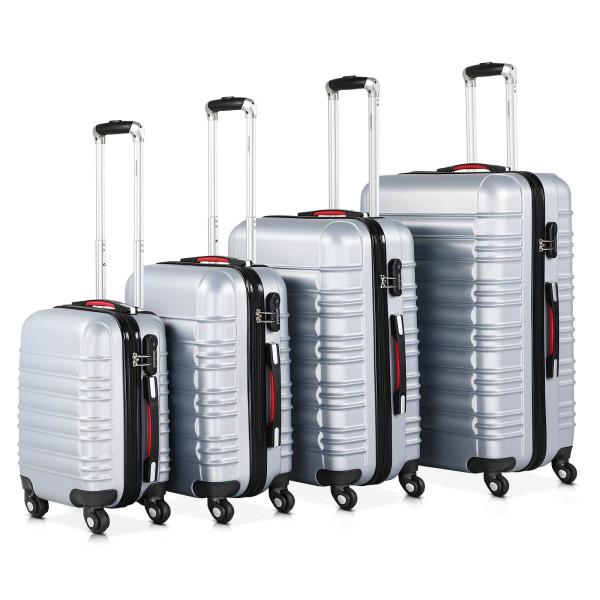4 Pieces Set Suitcase Baseline S/ M / L / XL