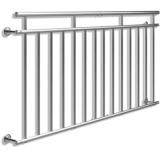 French Balcony Railing Stainless Steel 3x6ft