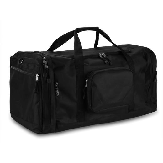 Tasche für Reise/Sport - 70 cm, 90 L Inhalt - schwarz