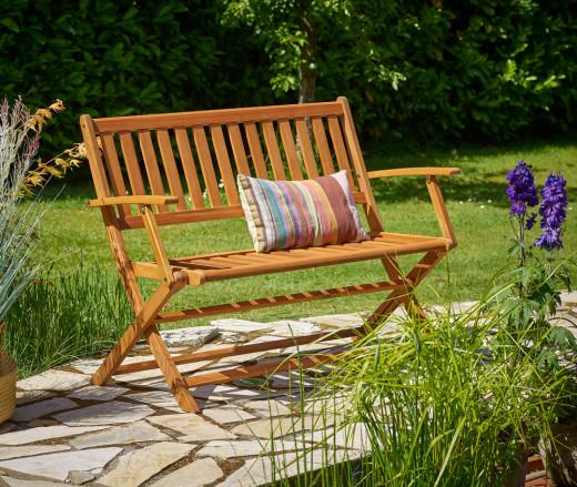 Wooden Garden Bench made of Eucalyptus Wood