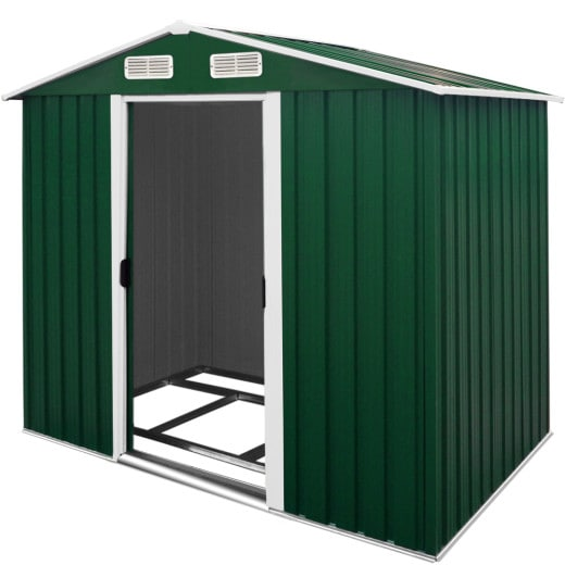 Garden Shed in Green made of Metal 7x4x6ft