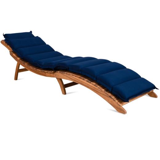 Sun Lounger Cushion Blue 183x56x7cm