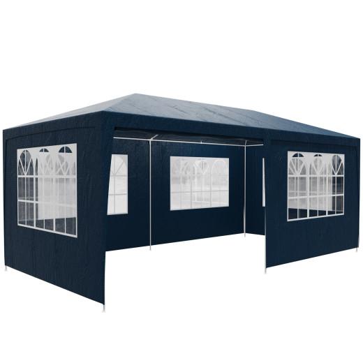 Gazebo Rimini Blue 6x3m incl. Side Panels