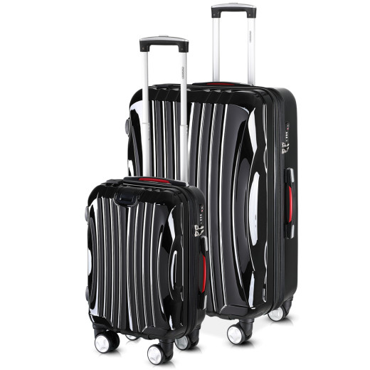Monzana® Ikarus Suitcase Set M and XL with USB