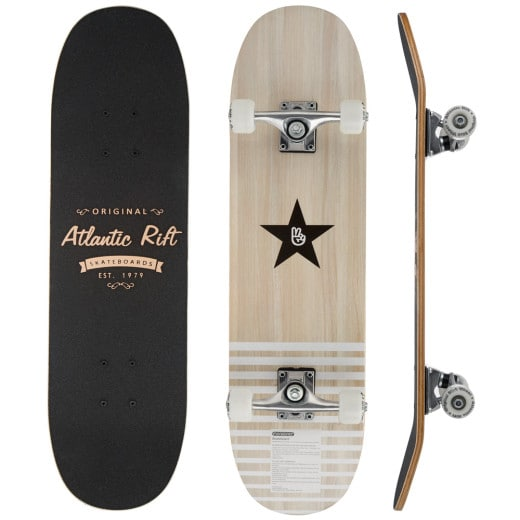 Wooden Skateboard with Non-Slip Cover and PU-dampers